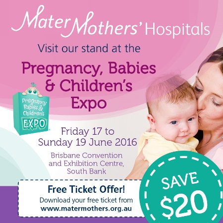 Find out more about Mater Mothers' Private Brisbane at this month's Pregnancy, Babies and Children's Expo