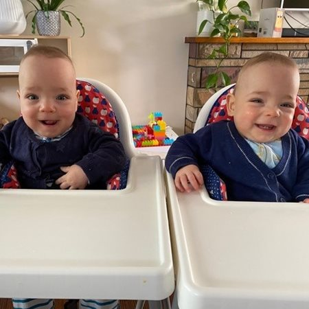 Twins Callan and Henry thriving after TTTS