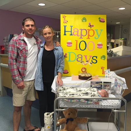 100 days of care for baby Solomon